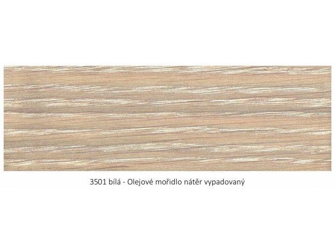 Osmo 3501 olejové mořidlo bílá 1 lt  + zdarma dárek v hodnotě 160 Kč - Anza Elite Flat Brush - štětec plochý 70 mm