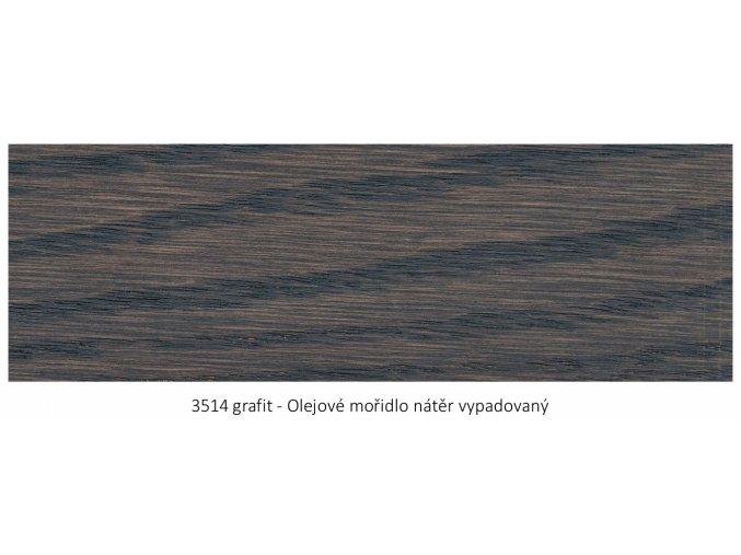 Osmo 3514 olejové mořidlo Grafit 1 lt  + zdarma dárek v hodnotě 161 Kč - Anza Elite Flat Brush - štětec plochý 70 mm