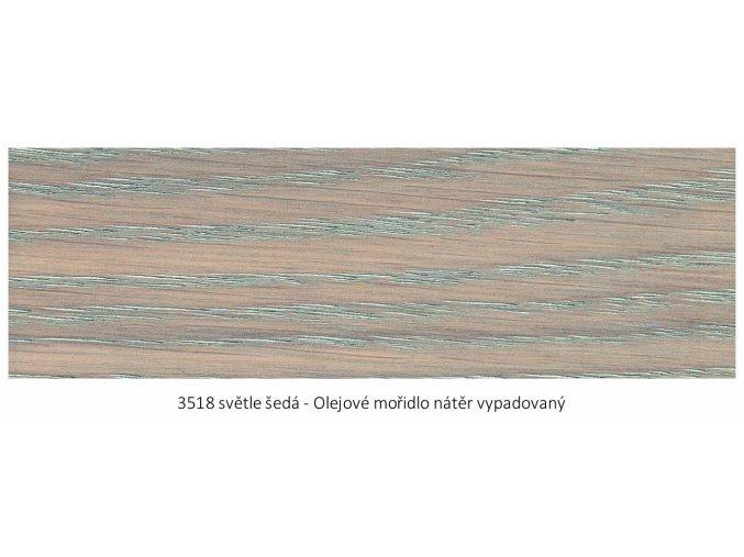 Osmo 3518 olejové mořidlo Světle šedá 1 lt  + zdarma dárek v hodnotě 161 Kč - Anza Elite Flat Brush - štětec plochý 70 mm