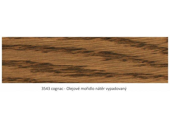 Osmo 3543 olejové mořidlo Cognac 1 lt  + zdarma dárek v hodnotě 161 Kč - Anza Elite Flat Brush - štětec plochý 70 mm