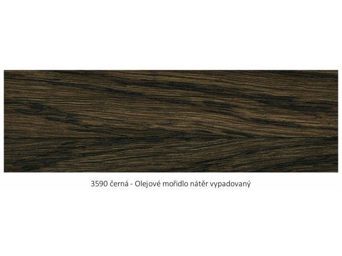 Osmo 3590 olejové mořidlo Černá 1 lt  + zdarma dárek v hodnotě 160 Kč - Anza Elite Flat Brush - štětec plochý 70 mm