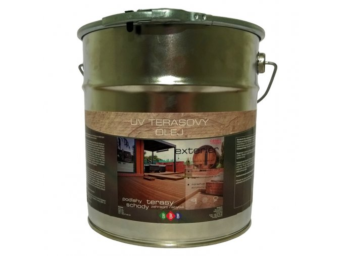 BBB Terasový UV olej bezbarvý 9 l  + zdarma dárek v hodnotě 313 Kč -  Anza Elite outdoor štětec úhlový 100 mm