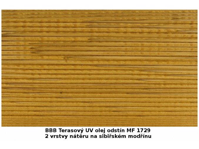 BBB 1729 Terasový UV olej 2,7 l