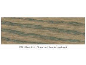 Osmo 3512 olejové mořidlo - Stříbrně šedá 1 lt  + zdarma dárek v hodnotě 160 Kč - Anza Elite Flat Brush - štětec plochý 70 mm