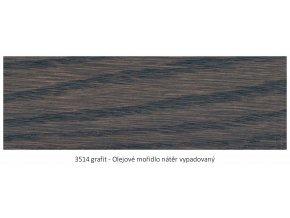 Osmo 3514 olejové mořidlo Grafit 1 lt  + zdarma dárek v hodnotě 160 Kč - Anza Elite Flat Brush - štětec plochý 70 mm