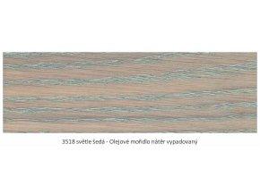 Osmo 3518 olejové mořidlo Světle šedá 1 lt  + zdarma dárek v hodnotě 160 Kč - Anza Elite Flat Brush - štětec plochý 70 mm