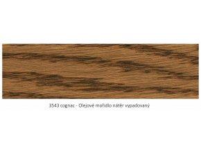 Osmo 3543 olejové mořidlo Cognac 1 lt  + zdarma dárek v hodnotě 160 Kč - Anza Elite Flat Brush - štětec plochý 70 mm