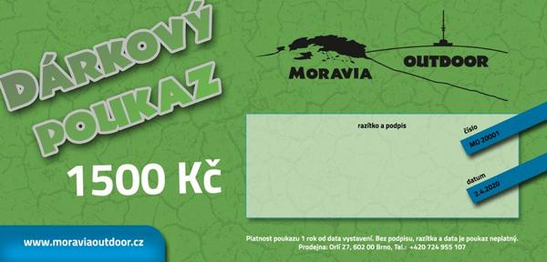 Dárkové poukazy Moravia Outdoor