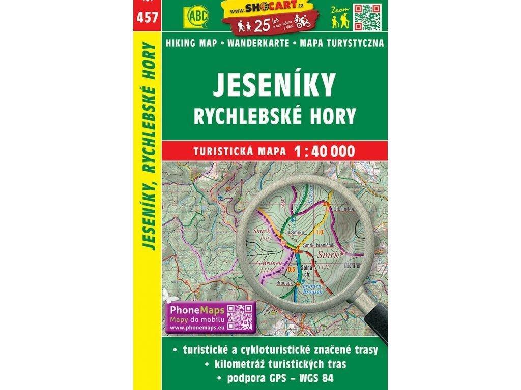 turisticka mapa jeseniky rychlebske hory