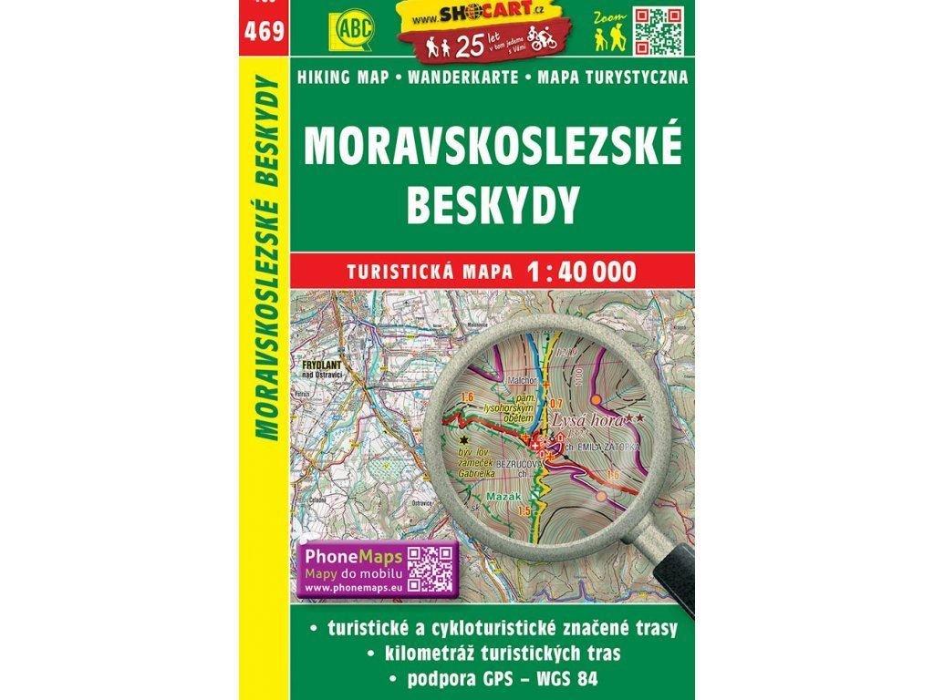 turisticka mapa moravskoslezske beskydy