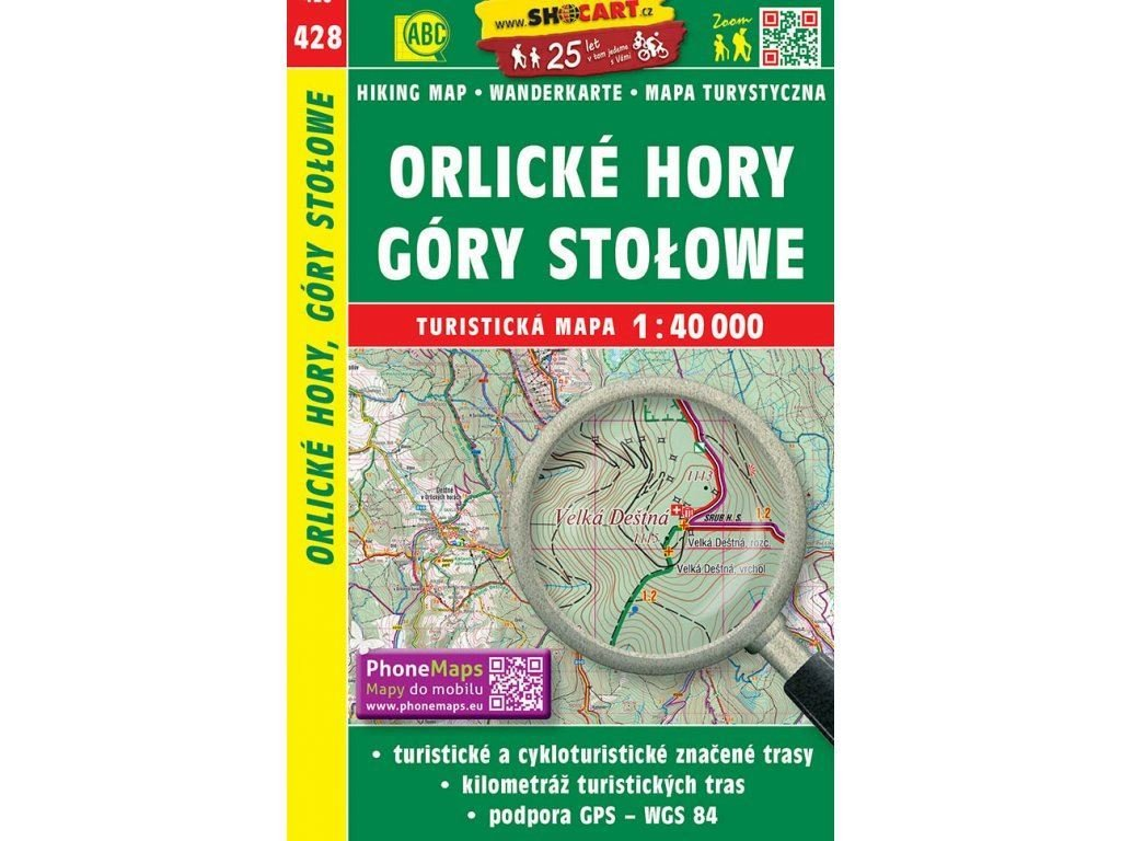 turisticka mapa orlicke hory gory stolowe