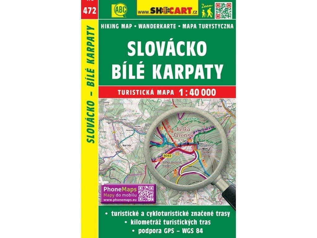 turisticka mapa slovacko bile karpaty