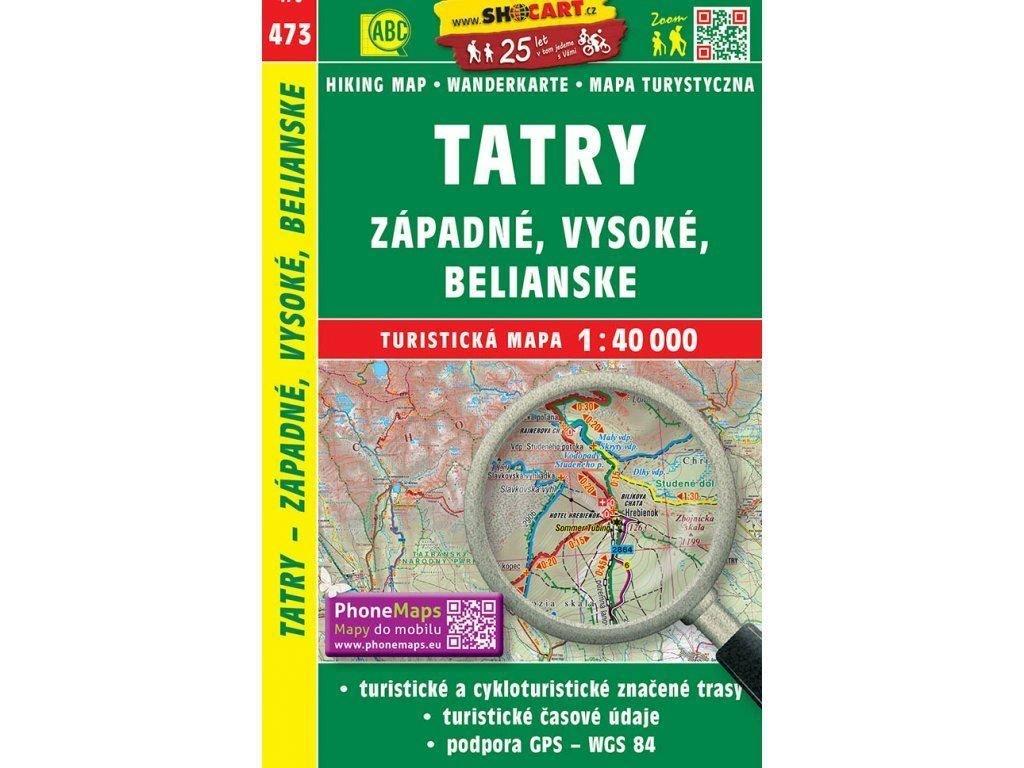 SHOCART cyklo-turistická mapa TATRY - Západné, Vysoké, Belianské
