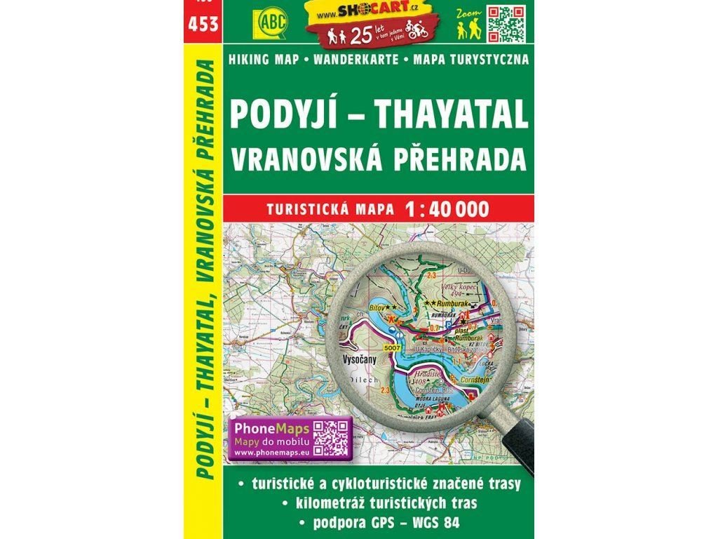 turisticka mapa podyji thayatal vranovska prehrada