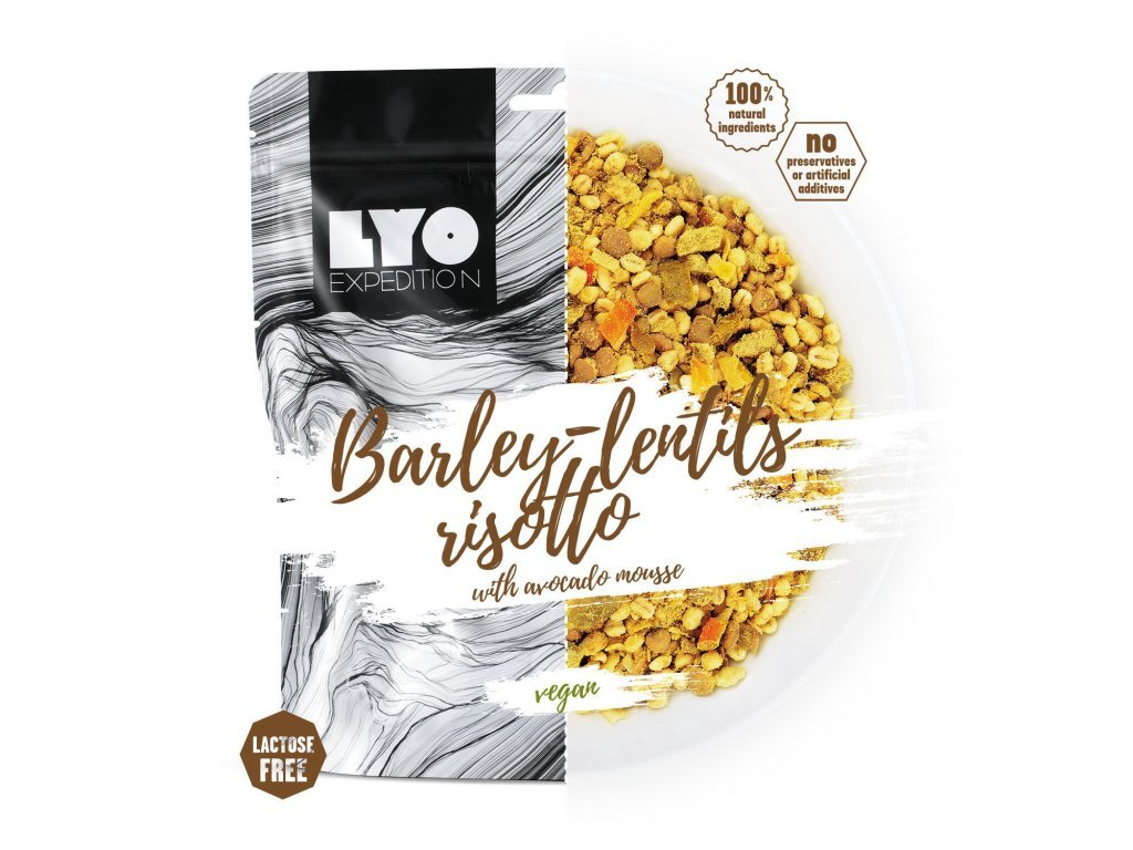 LYO food kroupove rizoto s cockou a avokadem