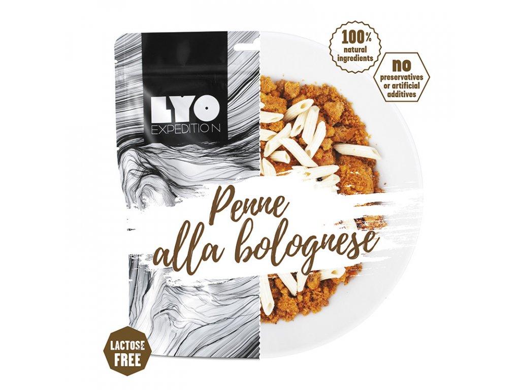 Těstoviny Bolognese; běžná porce