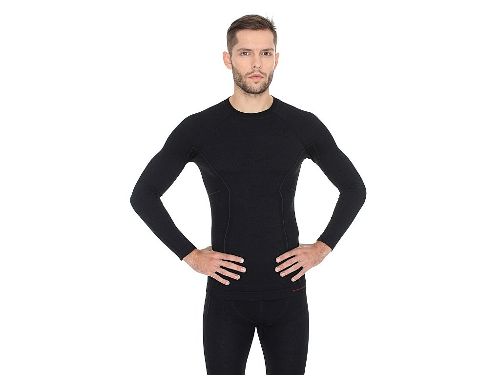 BRUBECK tričko s dlouhým rukávem Active wool man