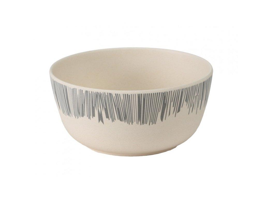 bamboo 14cm bowl grey
