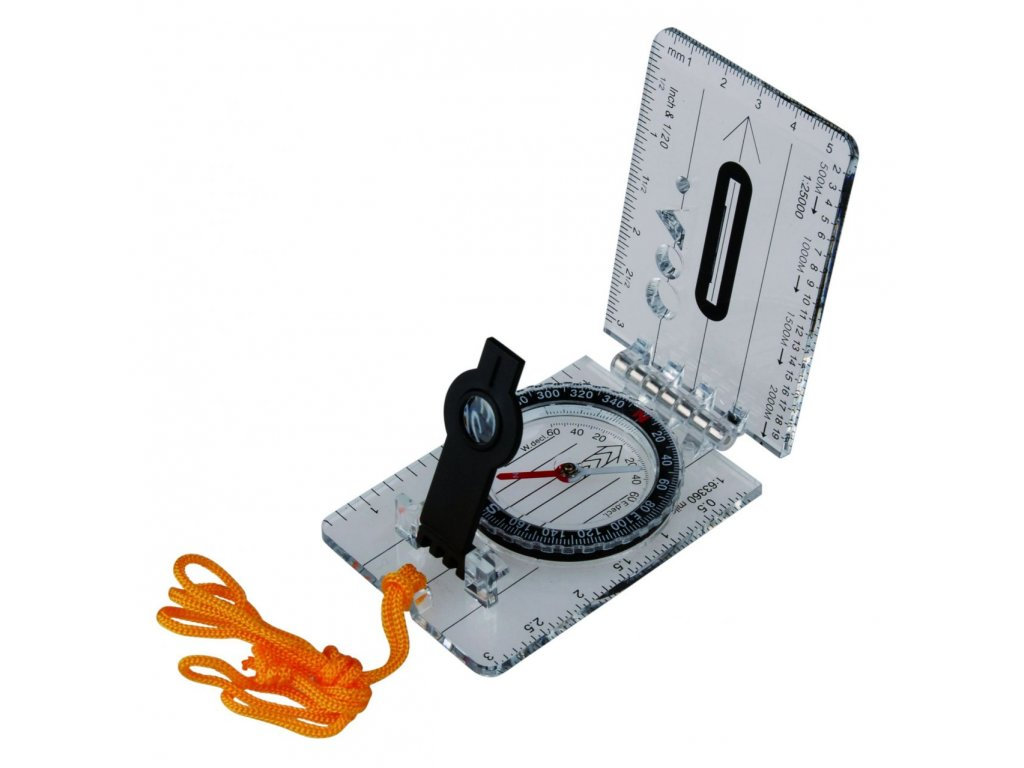 ace camp foldable map compass