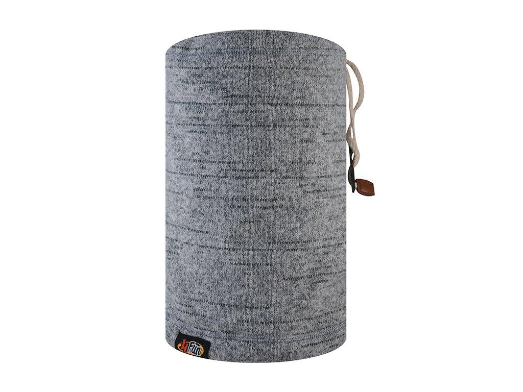 4fun multifunkční šátek neckwarmer grey