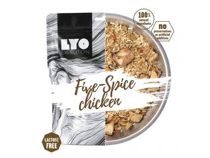 Kuře pěti chutí s rýží; velká porce