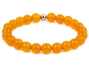 Dámský korálkový náramek - žlutý chalcedon AAA, korálek Morinetti