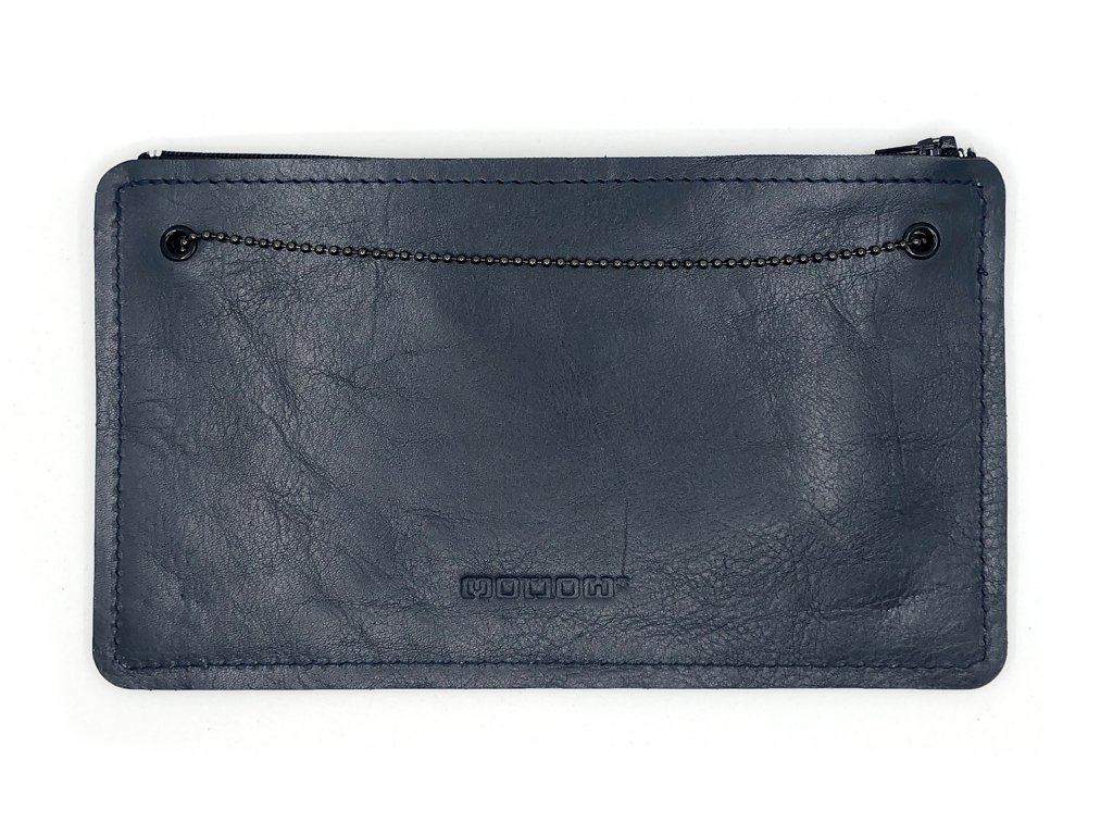 SMUCCI S Long dark blue leather 1