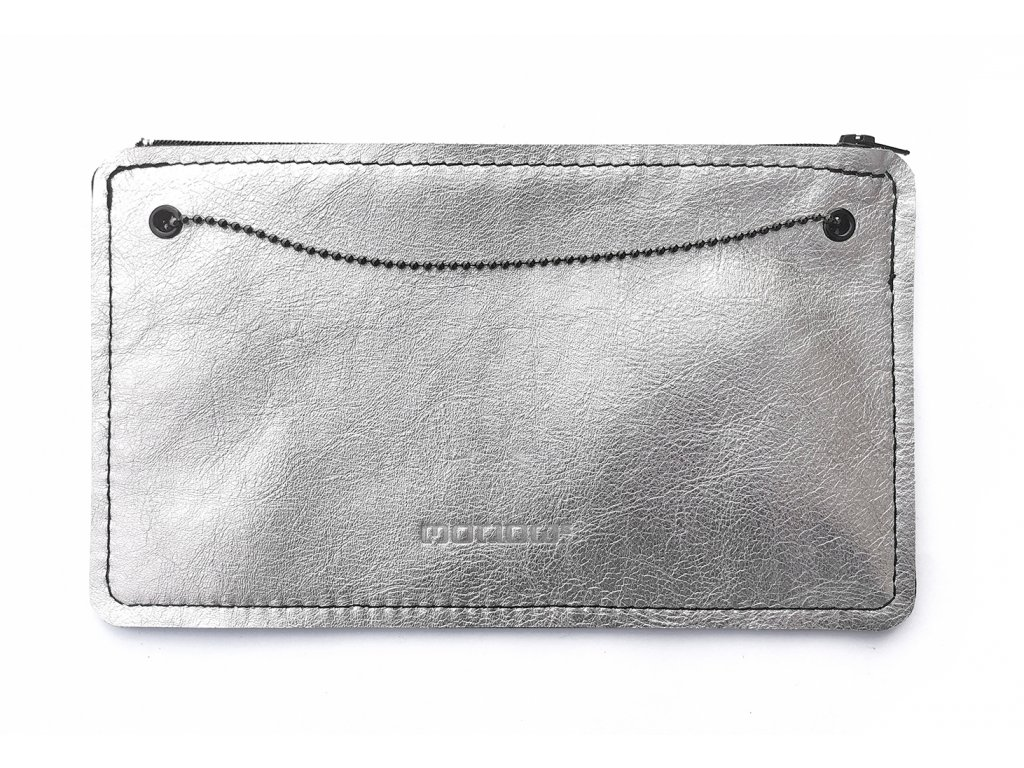 SMUCCI S long silver leather 1