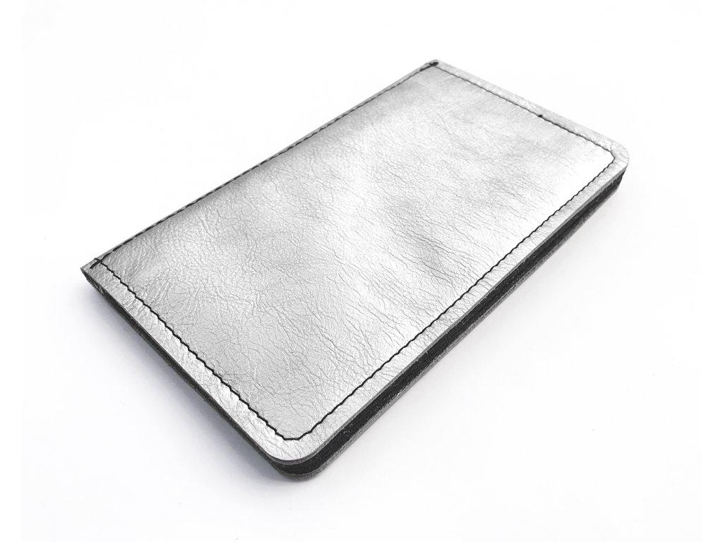 MANNY silver dark leather 1