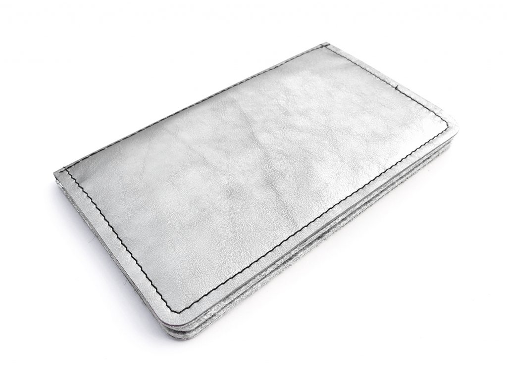 MANNY silver light leather 1