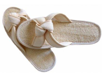 Masážní pantofle s lufou - uzel