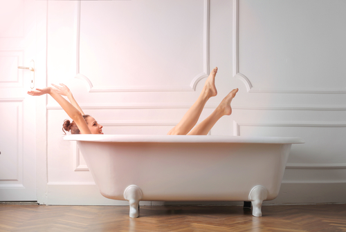 Pět kroků přípravy koupele s mořskou solí Mar Menor