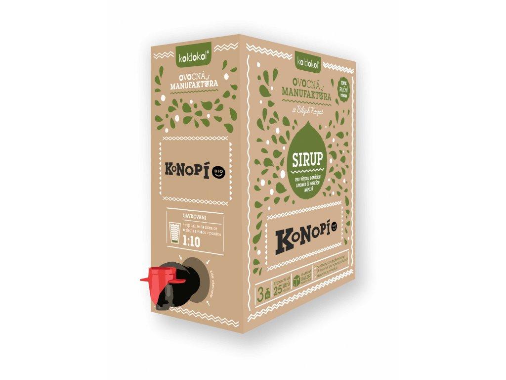 Koldokol sirup KONOPÍ BIO bag-in-box 3kg