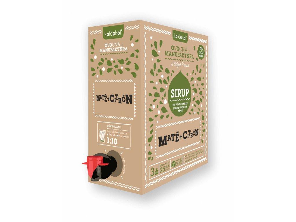 Koldokol sirup MATÉ A CITRON bag-in-box 3kg