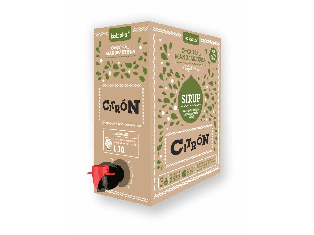 Koldokol sirup CITRON bag-in-box 3kg