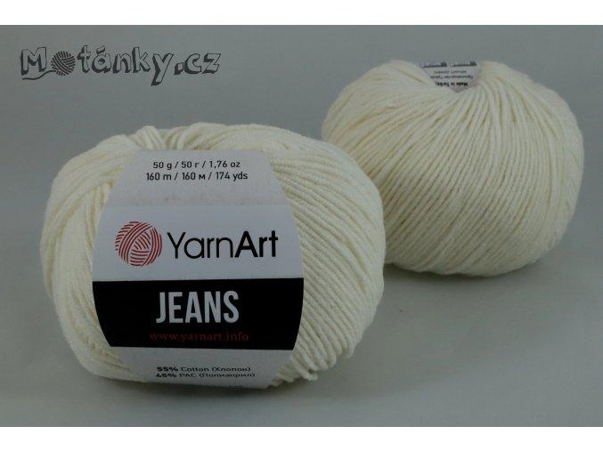 Jeans 03 smetanová