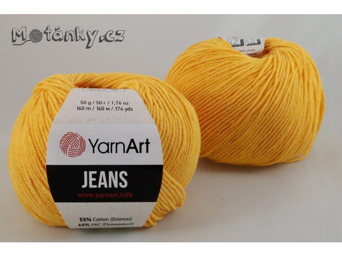 Jeans 35 sytě žlutá