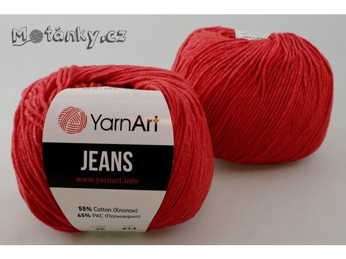 Jeans 26 světle červená