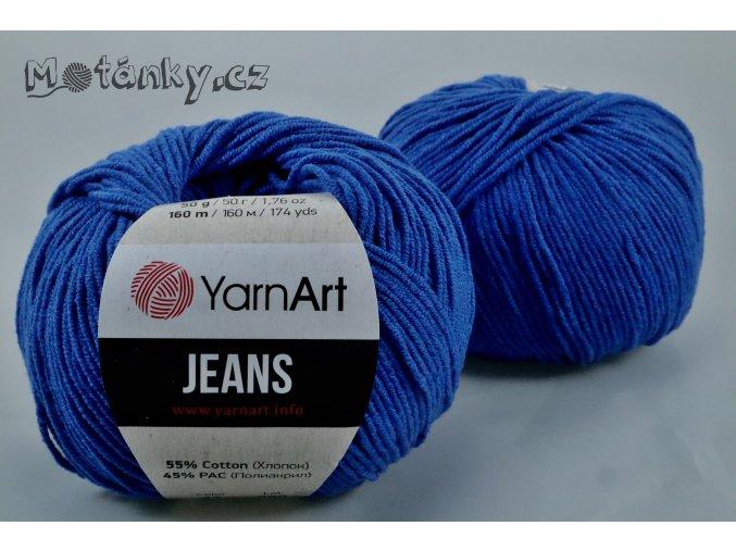 Jeans 47 královská modrá