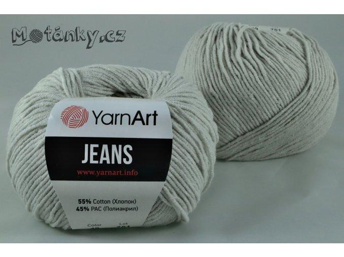 Jeans 49 šedobéžová