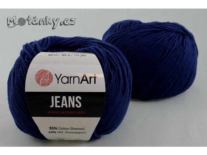 Jeans 54 tmavě modrá