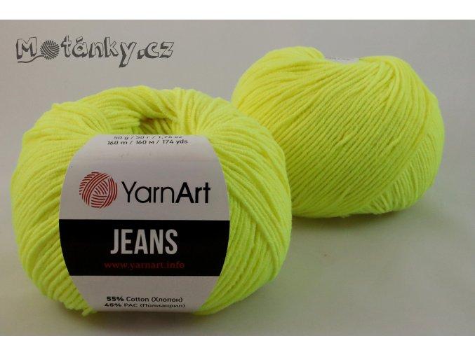 Jeans 58 neonově žlutá