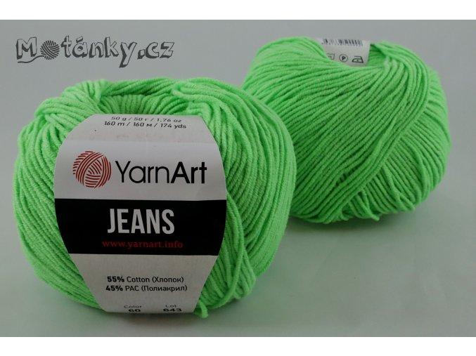 Jeans 60 neonově zelená