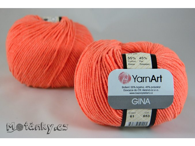 Gina 61 jasně oranžová