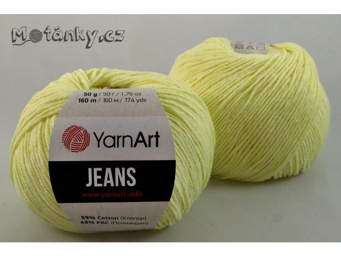 Jeans 67 světle žlutá