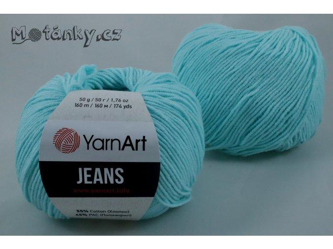 Jeans 76 pastelově modrá