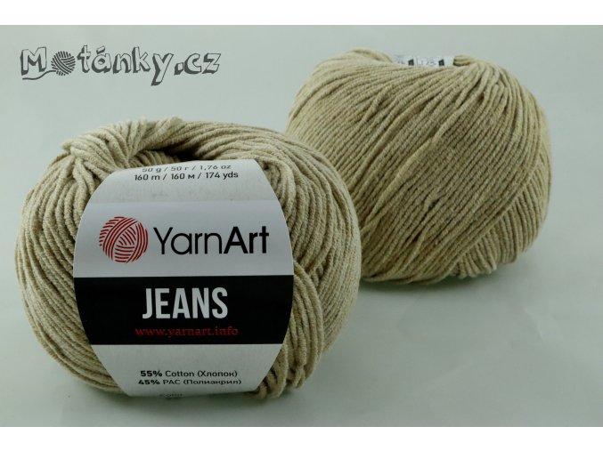 Jeans 48 velbloudí