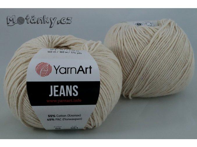Jeans 05 tmavě smetanová