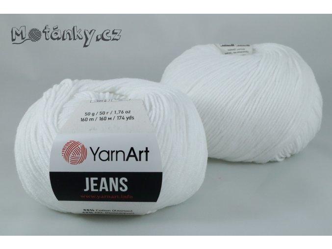 Jeans 62 sněhově bílá