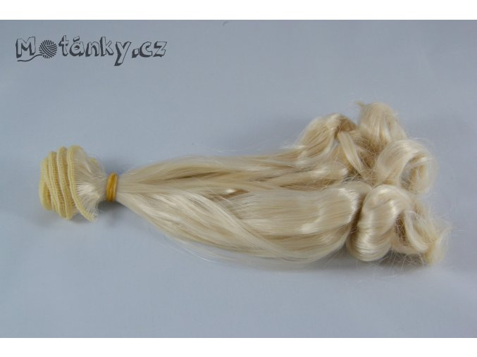 Vlasy 20cm kudrnaté, blond